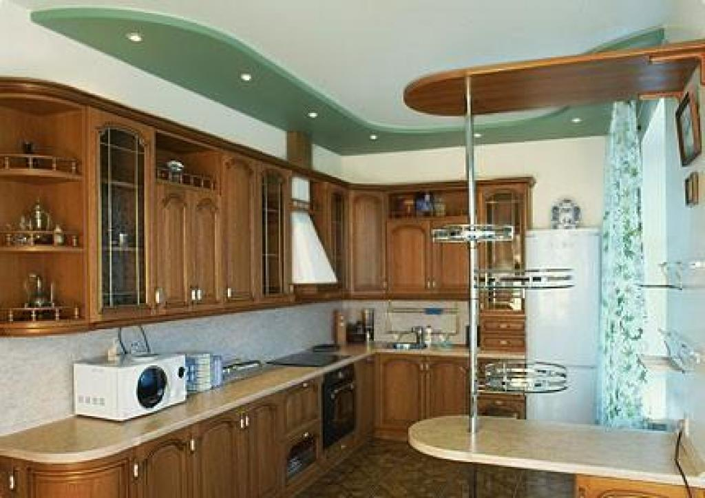 Навесные потолки для кухни своими руками