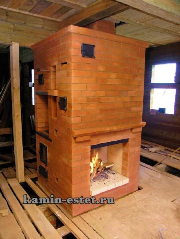 Печь для дома из кирпича своими руками с камином