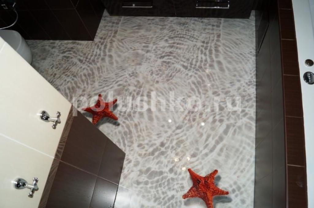 наливные полы 3d в ванной фото цена